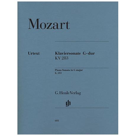 Mozart, W. A.: Klaviersonate G-Dur KV 283 (189h)