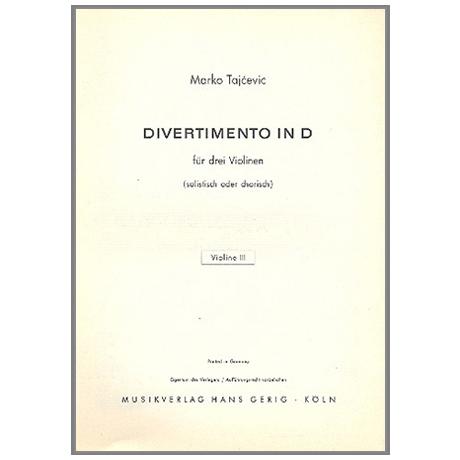 Tajcevic, M.: Divertimento D-Dur – Violine 3