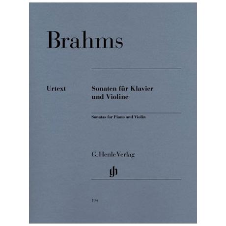 Brahms, J.: 3 Sonaten (+ Scherzo)