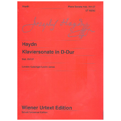 Haydn, J.: Klaviersonate D-Dur Hob. XVI: 37