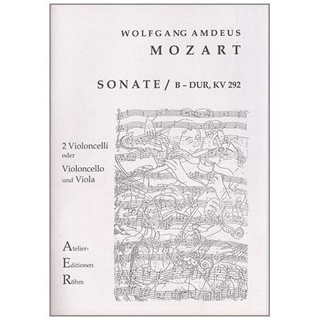 Mozart, W. A.: Sonate nach KV 292 B-Dur