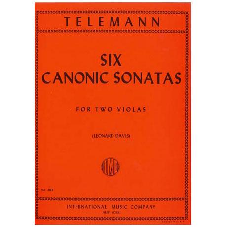 Telemann, G.Ph.: 6 kanonische Sonaten – für Viola