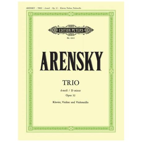 Arensky: Klaviertrio Op. 32 d-Moll
