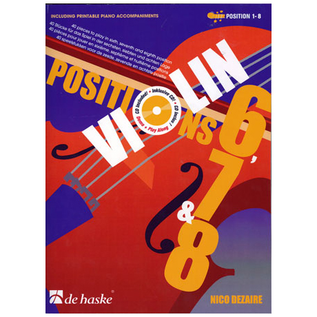 Dezaire, N.:Violin Positions 6-7-8 (+2 CD'S)