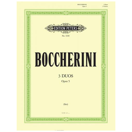Boccherini, L.: 3 Duos Op.5