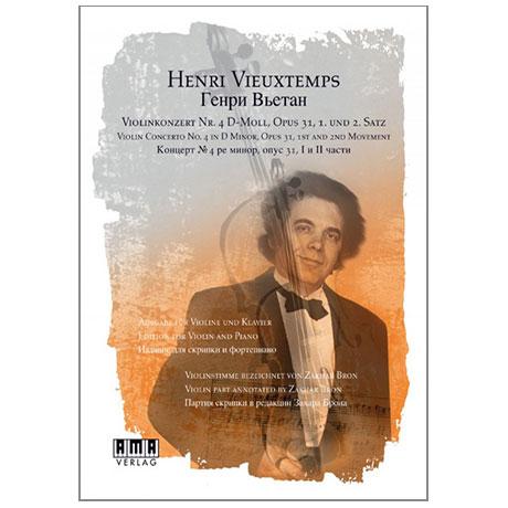 Vieuxtemps, H.: Violinkonzert Nr. 4 Op. 31 d-Moll (+DVD)