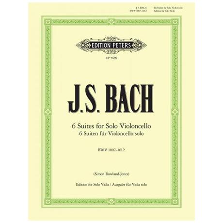 Bach, J.S.: 6 Cellosuiten (BWV 1007 - 1012)