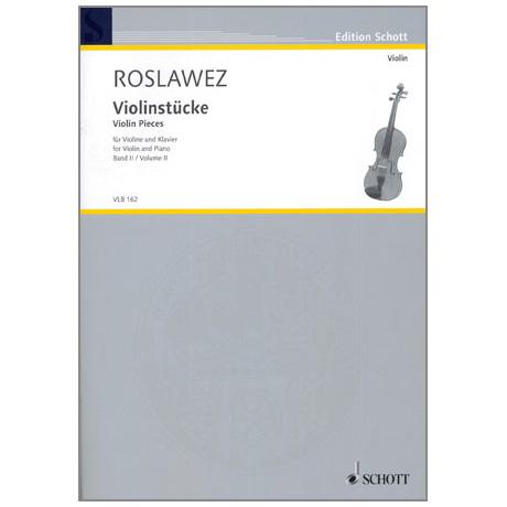 Roslawez, N. A.: Violinstücke Band 2