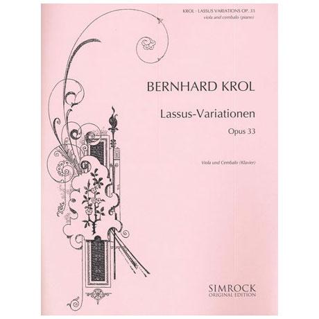 Krol, B.: Lassus-Variationen Op.33