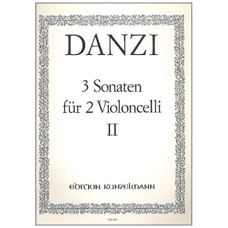 Danzi, F.: 3 Sonaten Band 2 Nr.2 C-Dur