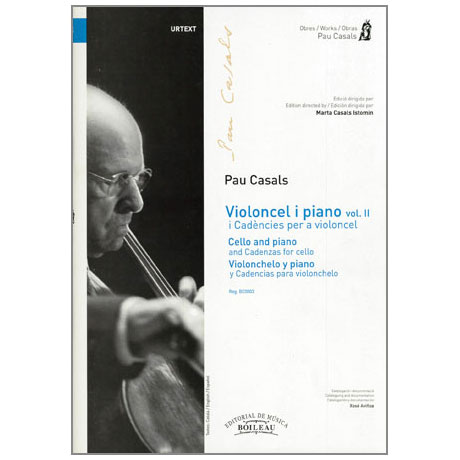 Casals, P.: Music for Cello and Piano Band 2