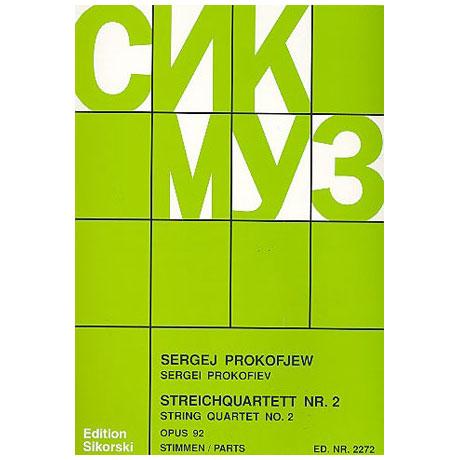 Prokofjew, S.: Streichquartett Nr.2, Op.92 auf kabardinische Themen