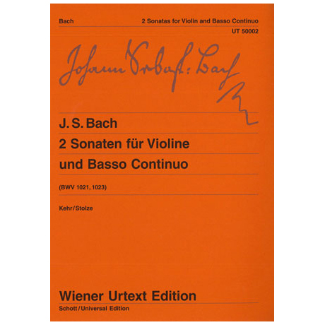 Bach, J.S.: 2 Sonaten G-Dur/e-Moll