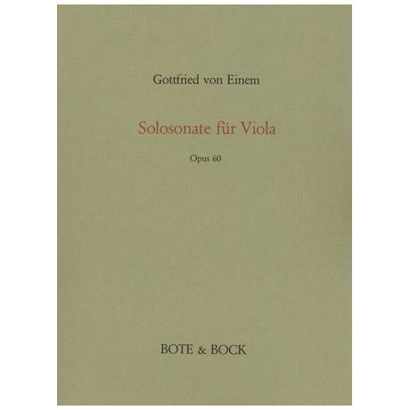 Einem, G.v.: Solosonate Op.60