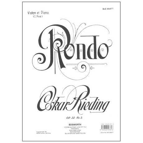 Rieding, O.: Rondo Op. 22 No.3