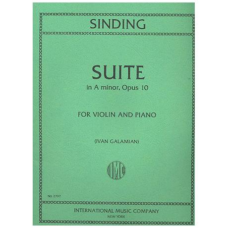 Sinding, C.: Suite in a-moll op. 10