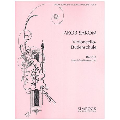 Sakom: Violoncello-Etüden-Schule Heft 3