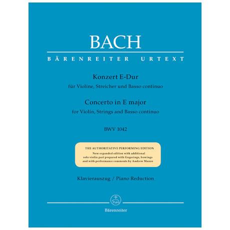 Bach, J. S.: Konzert für Violine, Streicher und Basso continuo BWV 1042 E-Dur