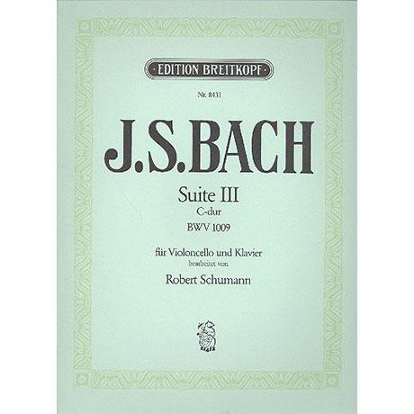 Schumann, R.: Suite III C-Dur für Vc solo von J.S.Bach