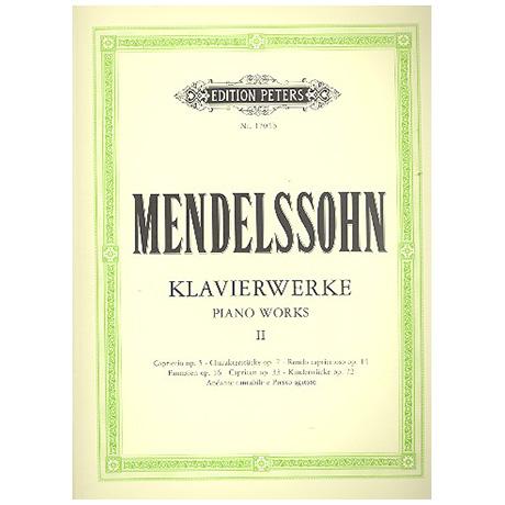 Mendelssohn Bartholdy, F.: Klavierwerke Band II
