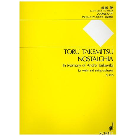 Takemitsu, T.: Nostalghia in Memory of Andrei Tarkovskij