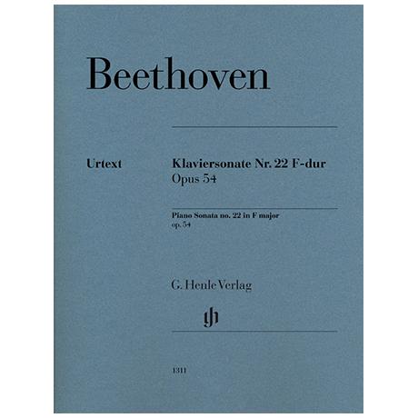 Beethoven, L. v.: Klaviersonate Nr. 22 F-Dur Op. 54