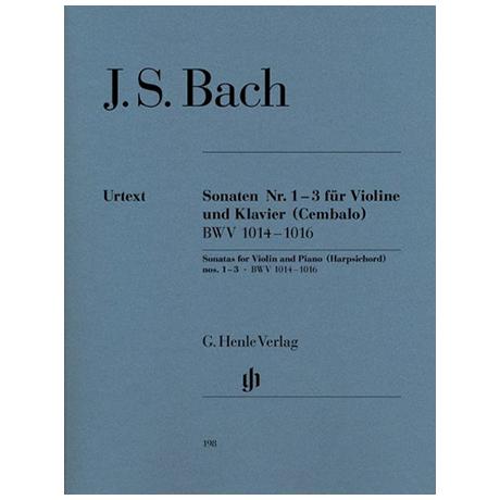 Bach, J.S.: Sonaten Nr.1 - 3 BWV 1014-1016