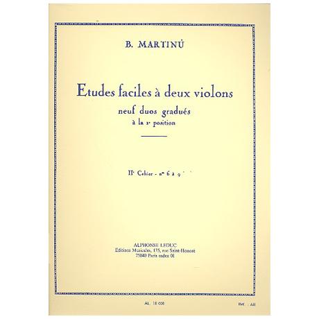 Martinu, B.: Etudes faciles à 2 violons Band 2 (Nr.6-9)