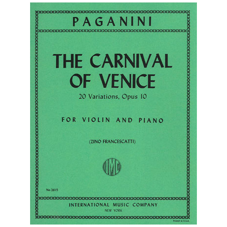 Paganini, N.: The Carnival of Venice Op.10