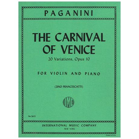 Paganini, N.: The Carnival of Venice Op.10