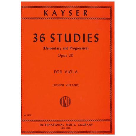 Kayser, H.E.: 36 Etüden op. 20