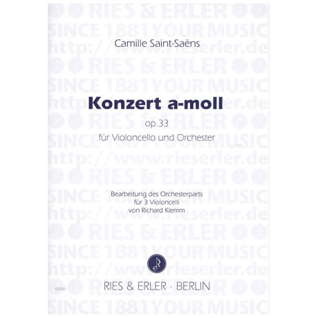 Saint-Saens, C.: Konzert a-moll op. 33