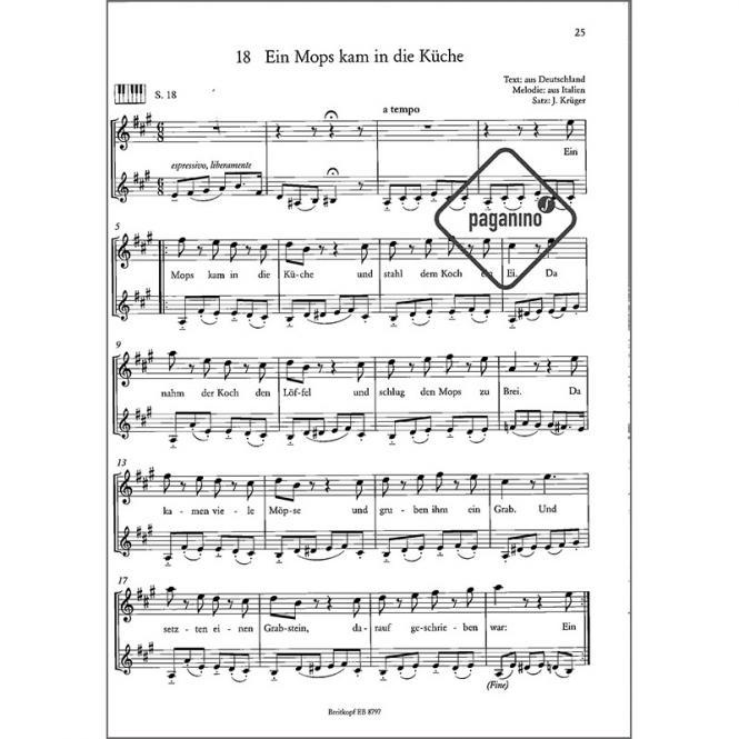 Ein Mops Kam In Die Küche Text   Zebras Liederheft Joschi Kruger T Z Jetzt Bei Paganino