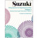 Suzuki String Quartets for Beginning Ensembles Vol. 2