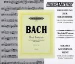 Bach, J.S.: 3 Sonaten BWV 1027-1029 (CD - Begleitung zur Solostimme)
