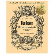 Beethoven, L. v.: Streichquartette Op. 59, Op. 74 und Op. 95