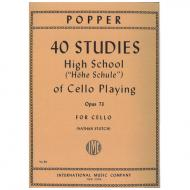 Popper, D.: High School of Cello playing Op. 73