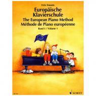 Emonts: Europäische Klavierschule Band 1 (+Online Audio)