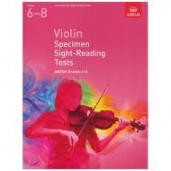 ABRSM: Violin Specimen Sight-Reading Tests – Grades 6-8 (From 2012)