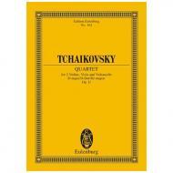 Tschaikowski, P. I.: Streichquartett Nr. 1 Op. 11 D-Dur