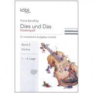 Kanefzky, F.: Dies und Das - Etüdenspaß Band 2