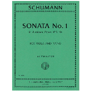 Schumann, R.: Violasonate Nr. 1 Op. 105b a-Moll