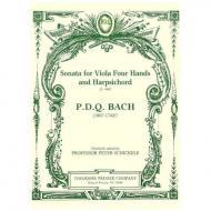 Bach, P. D. Q.: Sonata for Viola Four Hands and Harpsichord S. 440