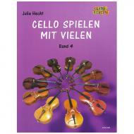 Hecht, J.: Cello spielen mit Vielen Band 4