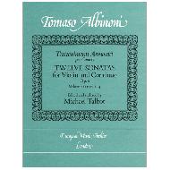 Albinoni, T.: 12 Sonatas For Violin And Continuo Vol. 1 ( Nr. 1-4 )
