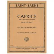 Saint-Saëns, C.: Caprice Op. 52/6 – After a Study in Form of a Waltz