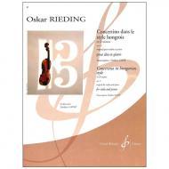 Rieding, O.: Concertino in ungarischer Weise Op. 21 d-Moll