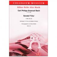 Bach, C. P. E.: Sonate H. 588 Wq. 163 F-Dur