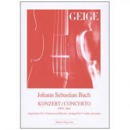 Bach, J. S.: Konzert BWV 1064 D-Dur