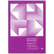Rheinberger, J. G.: Violinsonate Nr. 2 Op. 105 e-Moll